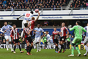 Leroy Fer goes close during the The FA Cup match between Queens Park Rangers and Sheffield Utd at the Loftus Road Stadium, London, England on 4 January 2015. Photo by David Charbit.
