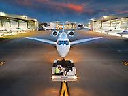 Aviation Banyan Air Service, towing Citation X