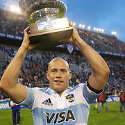 Felipe Contepomi, Argentina, after his man of the match performance during the Argentina V France test match at Estadio Jose Amalfitani, Buenos Aires,  Argentina. 26th June 2010. Photo Tim Clayton....