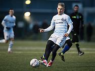 FODBOLD: Anders Holst (FC Helsingør) under træningskampen mellem Fremad Amager og FC Helsingør den 24. januar 2018 på kunstgræsbanen ved Sundby Idrætspark. Foto: Claus Birch
