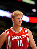Jan. 6 2010; Phoenix, AZ, USA; Houston Rockets forward Chase Budinger (10)  against the Phoenix Suns at the US Airways Center. Phoenix Suns defeated the Houston Rockets 118-110.  Mandatory Credit: Jennifer Stewart-US PRESSWIRE
