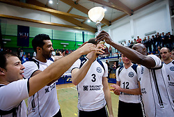 Players of Salonit Israel, Andre Ricardo Luz (2) with a Cup for 2nd place at last final volleyball match of 1.DOL Radenska Classic between OK ACH Volley and Salonit Anhovo, on April 21, 2009, in Arena SGS Radovljica, Slovenia. ACH Volley won the match 3:0 and became Slovenian Champion. (Photo by Vid Ponikvar / Sportida)
