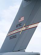 Rudder detail of a C-17 Globemaster at the EAA Airventure Airshow, Oshkosh, Wisconsin.