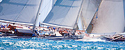 Windrose and J Class Velsheda sailing in the 2010 Antigua Classic Yacht Regatta, Windward Race, day 4.