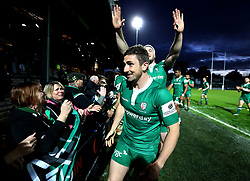 Brendan McKibbin of London Irish thanks the traveling fans for their support - Mandatory by-line: Robbie Stephenson/JMP - 17/05/2017 - RUGBY - Headingley Carnegie Stadium - Leeds, England - Yorkshire Carnegie v London Irish - Greene King IPA Championship Final 1st Leg