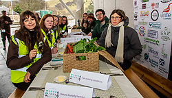 Pictured: Managers from food banks and a large number of organiastions  were behind the protest.<br /><br />Food bank managers, unions, and farmers shared lunch while they met with MSPs on International Human Rights Day to discuss the upcoming Good Food Nation Bill<br /><br />Ger Harley | EEm 10 December 2019