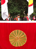 August 15, 2017, Tokyo, Japan: Representatives of the advocacy group Taiwan Civil Government, whose mission is to normalize Taiwan's legal status in the global community, attended the 72nd anniversary of the end of World War II at Yasukuni Shrine. This is where tens of thousand came out in the rain to pay their respects for Japan's war dead at this national Shinto shrine where nearly 2.5 million war dead from the past 150 years are enshrined. Visits to Yasukuni by top Japanese politicians continue to outrage China, Taiwan and South Korea because it honors 14 World War II class A war criminals who are also enshrined there. Even so, dozens of Japanese lawmakers visited Yasukuni Shrine today, while PM Shinzo Abe sent a ritual offering via his emissary. Photo by Torin Boyd.