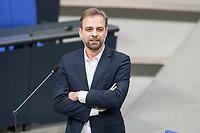 21 MAR 2019, BERLIN/GERMANY:<br /> Stefan Liebich, MdB, Die Linke, Bundestagsdebatte zur Regierungserklaerung der Bundeskanzlerin zum Europaeischen Rat, Plenum, Deutscher Bundestag<br /> IMAGE: 20190321-01-124