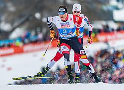 24.02.2019, Seefeld, AUT, FIS Weltmeisterschaften Ski Nordisch, Seefeld 2019, Nordischen Kombination, Teambewerb, Langlauf, im Bild v.l. Bernhard Gruber (AUT), Jarl Magnus Riiber (NOR) // f.l. Bernhard Gruber of Austria and Jarl Magnus Riiber of Norway during the cross country for the team competition Nordic Combined of FIS Nordic Ski World Championships 2019. Seefeld, Austria on 2019/02/24. EXPA Pictures © 2019, PhotoCredit: EXPA/ Stefan Adelsberger