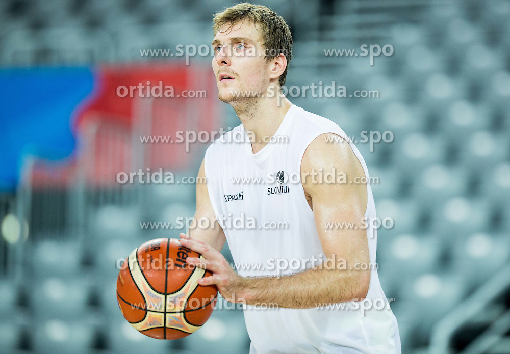 Zoran Dragic during practice session of Slovenia National Basketball Team 1 day prior to the FIBA Europe Eurobasket 2015, on September 4, 2015, in Arena Zagreb, Croatia. Photo by Vid Ponikvar / Sportida