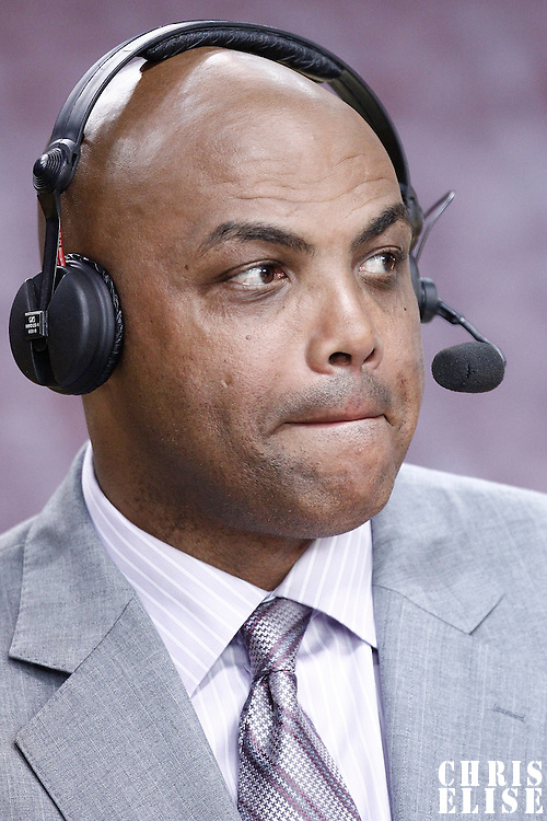 17 June 2012: TNT analyst Charles Barkley is seen prior to Game 3 of the 2012 NBA Finals, Thunder at Heat, at the AmericanAirlinesArena, Miami, Florida, USA.