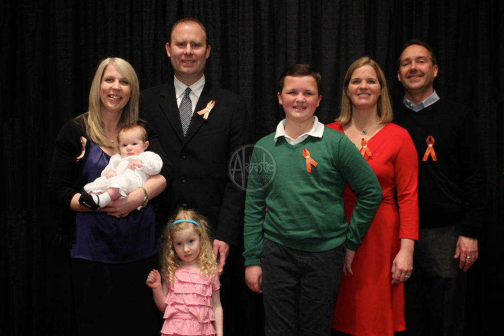 16th Annual American Red Cross Heroes Breakfast of King County - Heroes and Survivors. Heroes Cary & John Atzbach and family with Survivor Peter Dyer and family.