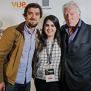 London, England, UK. 25th September 2017.Louis Lagayette,Marilena is a Director, Marilena Parouti is a Producer & Actor Alan Ford of TRENDY  attend Raindance Film Festival Screening at Vue Leicester Square, London, UK