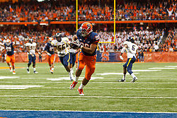 Oct 21, 2011; Syracuse NY, USA;  Syracuse Orange tight end David Stevens (86) scores a touchdown against the West Virginia Mountaineers during the third quarter at the Carrier Dome.  Syracuse defeated West Virginia 49-23. Mandatory Credit: Jason O. Watson-US PRESSWIRE