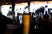 Oliveira_MG, Brasil...Detalhe de garrafas de mel comercializadas em Oliveira...Detail of the cachaca bottles, Its is seller in Oliveira...Foto: LEO DRUMOND / NITRO
