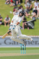 Ross Taylor of New Zealand avoids a bouncer from Shannon Gabriel of the West Indies during day two of the Test match series between New Zealand Blackcaps and the West Indies at Basin Reserve on December 2, 2017 in Wellington, New Zealand