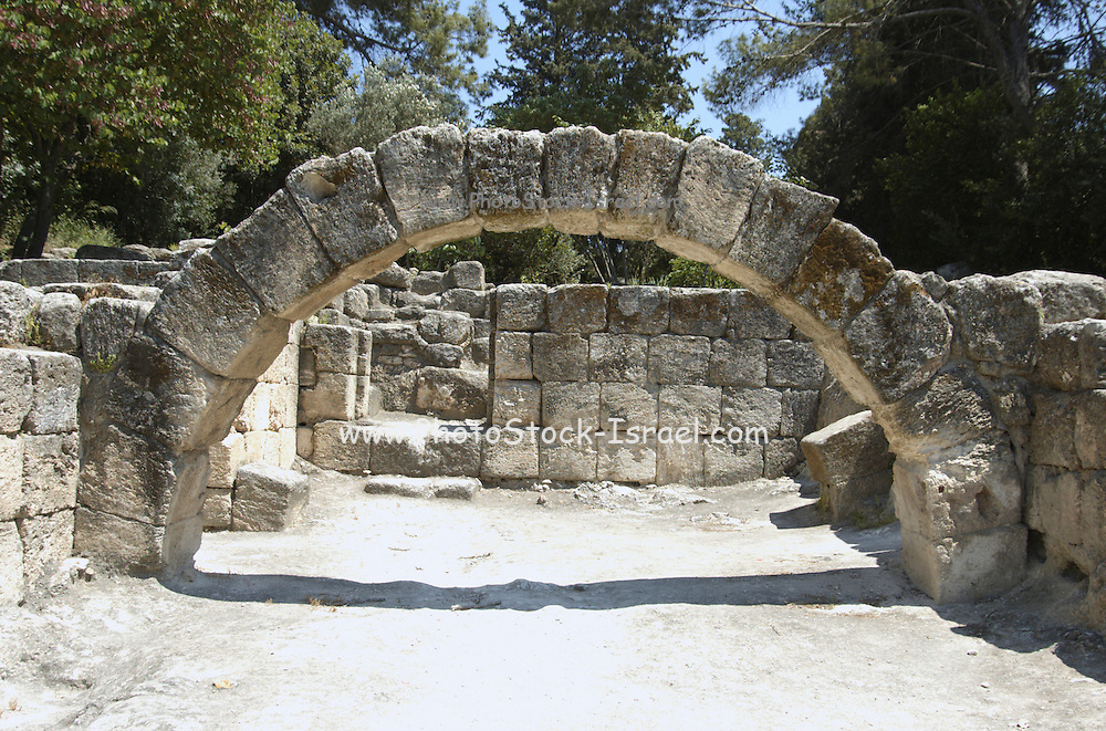 "The arch of the Synagogue at Beit sharim, Israel. The Jewish town of Beit She'arim flourished during the 2-4 centuries CE (the Roman period). The town of Beit She'arim became an important spiritual center when Rabbi Yehuda Hanasi (""Rabbi""), who was the spiritual authority of the time, made his home there. Rabbi was known as the sealer of the ""Mishna"". Rabbi also moved the ""Sanhedrin"" (the religious-judicial authority) to Beit She'arim. , Jezreel"
