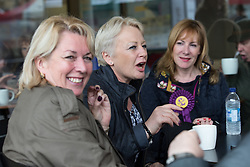 © Licensed to London News Pictures . 04/06/2014 . Newark , Nottinghamshire , UK . L-R Jill Seymour ( MEP for West Midlands ) , Jane Collins ( MEP for Yorkshire and the Humber ) and Janice Atkinson ( MEP for South East ) at UKIP Women MEPs event in Newark today (Wednesday 4th June 2014) ahead of the Newark by-election tomorrow (Thursday 5th June 2014) . Photo credit : Joel Goodman/LNP