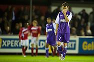 Harkemase Boys - Willem II KNVB Beker seizoen 2011-2012<br /> Robbie Haemhouts is zwaar teleurgesteld als de Harkemase Boys de beslissende 3-2 binnenschieten<br /> Foto: Geert van Erven