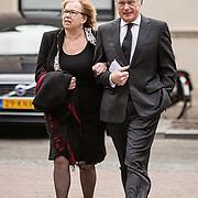 NLD/Utrecht/20140215 - Herdenkingsdienst Els Borst in de Domkerk, Jozias van Aartsen en partner Henriette Warsen
