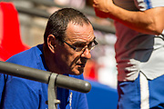 Maurizio Sarri manager of Chelsea during the FA Community Shield match between Chelsea and Manchester City at Wembley Stadium, London, England on August 5, 2018, photo Salvio CalabreseUKSP / SpainProSportsImages / DPPI / ProSportsImages / DPPI
