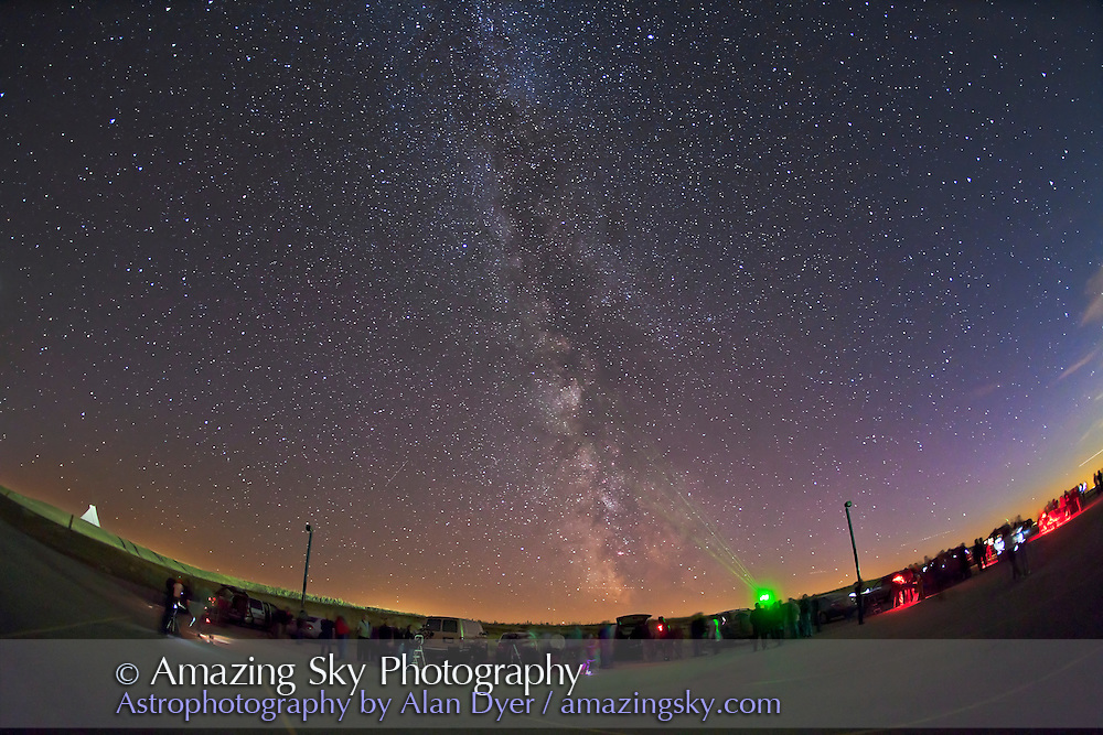 Milky Way over Siksika Skies stargazing night at Blackfoot Crossing Historical Park, October 2, 2010. ..Technical: This is a single 30 second exposure at ISO 2000 and f/2.8 with a 15mm lens on a Canon 5D MkII camera. Contrast enhancements applied to bring our the sky and foreground shadow detail.