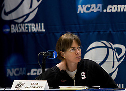March 19, 2010; Stanford, CA, USA;  Stanford Cardinal head coach Tara VanDerveer before the first round game of the 2010 NCAA Womens Division I Championship at Maples Pavilion.