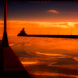 An early morning below zero at Lake Superior in Duluth, Minnesota.