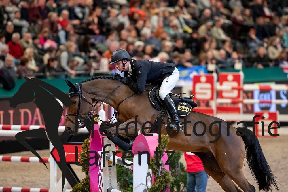 KLÄSENER Christoper (GER), Abanta van de Huiskens<br /> Leipzig - Partner Pferd 2019<br /> IDEE Kaffe Preis<br /> CSI5*<br /> 18. Januar 2019<br /> © www.sportfotos-lafrentz.de/Stefan Lafrentz