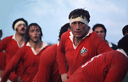 LIONS CAPTAIN WILLIE JOHN-McBRIDE AWAITS THE THROW IN AT A LINEOUT.SOUTH AFRICA V LIONS, 1974 TEST SERIES