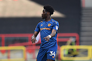 Ola Aina (34) of Hull City during the EFL Sky Bet Championship match between Bristol City and Hull City at Ashton Gate, Bristol, England on 21 April 2018. Picture by Graham Hunt.