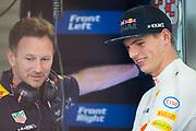 June 8-11, 2017: Canadian Grand Prix. Max Verstappen (DEU), Red Bull Racing, RB13,  Christian Horner, team principal of Red Bull Racing