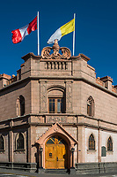 Palace of the Archbishop of Arequipa in the peruvian Andes at Arequipa Peru