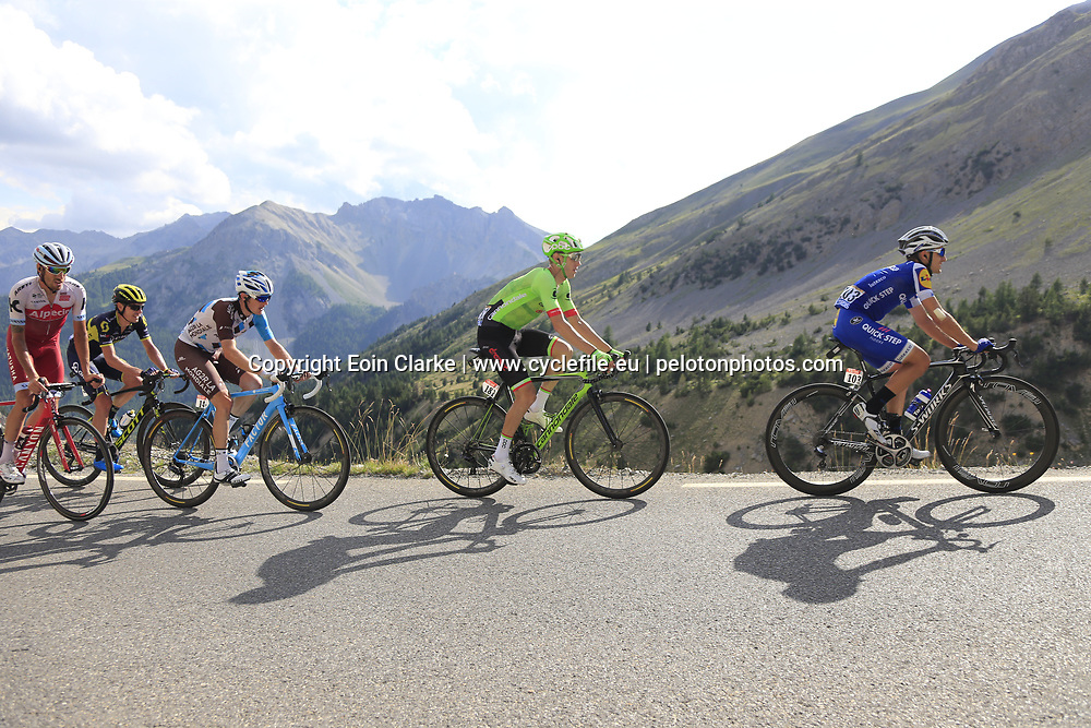 Riders climb through the Caisse Deserte on Col d'Izoard during Stage 18 of the 104th edition of the Tour de France 2017, running 179.5km from Briancon to the summit of Col d'Izoard, France. 20th July 2017.<br /> Picture: Eoin Clarke | Cyclefile<br /> <br /> All photos usage must carry mandatory copyright credit (&copy; Cyclefile | Eoin Clarke)