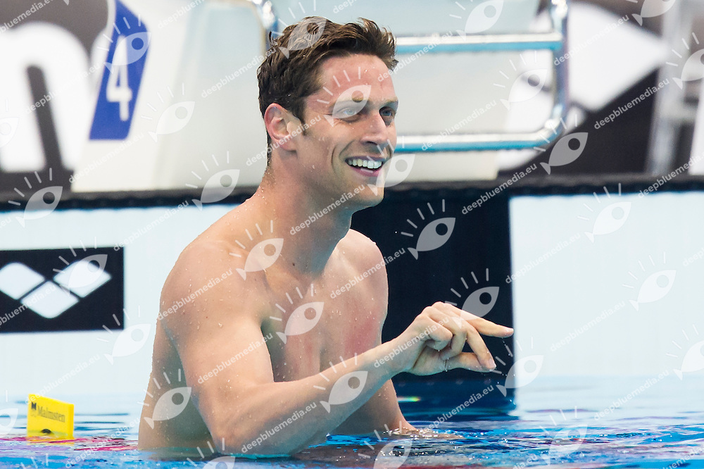 DOTTO Luca ITA ITALY gold medal<br /> London, Queen Elizabeth II Olympic Park Pool <br /> LEN 2016 European Aquatics Elite Championships <br /> Swimming<br /> Men's 100m freestyle final<br /> Day 12 20-05-2016<br /> Photo Giorgio Perottino/Deepbluemedia/Insidefoto
