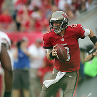 Tampa Bay Buccaneers quarterback Mike Glennon (8) during an NFL football game between the San Francisco 49ers  and the Tampa Bay Buccaneers on Sunday, December 15, 2013 at Raymond James Stadium in Tampa, Florida.. (Photo/Alex Menendez)