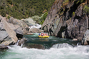 Whitewater rafting on the Middle Fork of the American River in California's Sierra Nevada foothills.