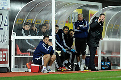 Bristol City manager, Steve Cotterill shouts instructions - Photo mandatory by-line: Dougie Allward/JMP - Tel: Mobile: 07966 386802 14/01/2014 - SPORT - FOOTBALL - Vicarage Road - Watford - Watford v Bristol City - FA Cup - Third Round - replay
