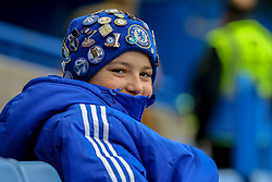 A Chelsea fans wear his beanie covers in Chelsea badges - Mandatory by-line: Jason Brown/JMP - 31/12/2016 - FOOTBALL - Stamford Bridge - London, England - Chelsea v Stoke City - Premier League
