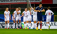 17/09/15 VAUXHALL WOMEN'S INTERNATIONAL CHALLENGE MATCH<br /> SCOTLAND v NORWAY<br /> FIRHILL - GLASGOW<br /> Norway's Ada Stolsmo Hegerberg (3rd from left) celebrates her goal with his team-mates