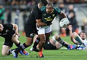 Makazole Mapimpi of South Africa during the Rugby Championship match between the New Zealand All Blacks & South Africa at Westpac Stadium, Wellington on Saturday 27th July 2019. Copyright Photo: Grant Down / www.Photosport.nz
