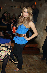 PEACHES GELDOF at a party hosted by Daniella Helayel of fashion label ISSA held at Taman Gang, 141 Park Lane, London on 15th February 2006.<br /><br />NON EXCLUSIVE - WORLD RIGHTS