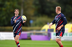 Tom Hargan and James Dun of Bristol United during warm-up - Mandatory by-line: Paul Knight/JMP - 22/09/2017 - RUGBY - Clifton RFC - Bristol, England - Bristol United v London Irish 'A' - Aviva A League