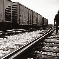 """Iowa Blackie"" (Richard Gage) is a modern-day hobo. Hopping boxcars through the midwest, Iowa Blackie spends time reading stories about the golden era of the classic American Hobo, and writing poetry about his life on the rails."