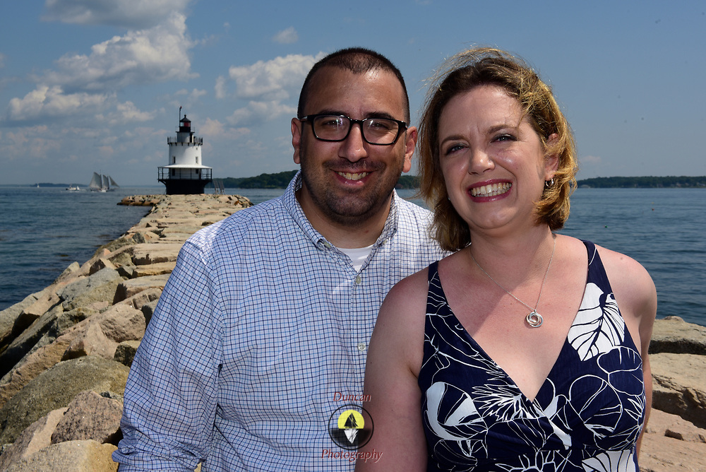 SOUTH PORTLAND, MAINE 7/14/2019<br /> Liz and Tony Engagement portrait session. <br /> Photo by Roger S. Duncan. Permission granted to Liz and Tony for use as they see fit.