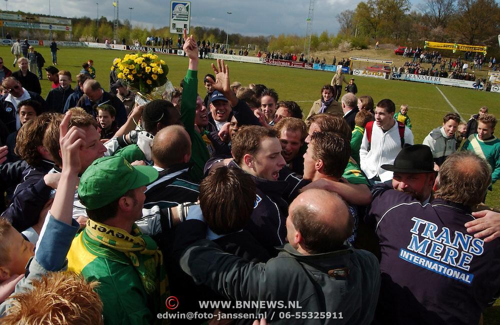 SV Huizen - Bennekom, SV Huizen kampioen hoofdklasse B zaterdagamateurs