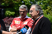 April 15-17, 2016: Chinese Grand Prix, Shanghai, Sergio Marchionne, Maurizio Arrivabene, team principal of Scuderia Ferrari