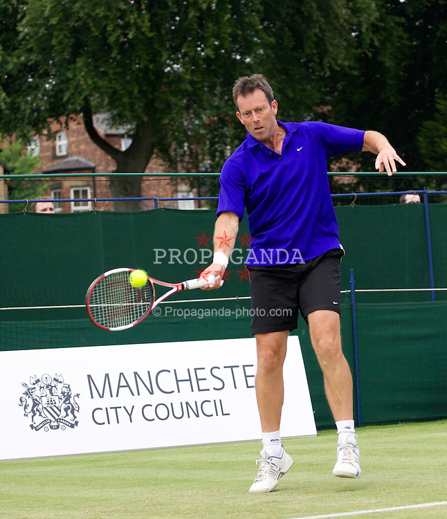 MANCHESTER, ENGLAND: Jeremy Bates (GBR) on Day 4 of the Manchester Masters Tennis Tournament at the Northern Tennis Club. (Pic by David Tickle/Propaganda)
