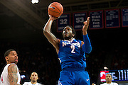 DALLAS, TX - FEBRUARY 01: Shaq Goodwin #2 of the Memphis Tigers drives to the basket against the SMU Mustangs on February 1, 2014 at Moody Coliseum in Dallas, Texas.  (Photo by Cooper Neill/Getty Images) *** Local Caption *** Shaq Goodwin