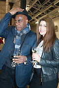 AINSLIE HARRIOT AND HIS DAUGHTER: MADDIE HARRIOT , Art13 London First night, Olympia Grand Hall, London. 28 February 2013